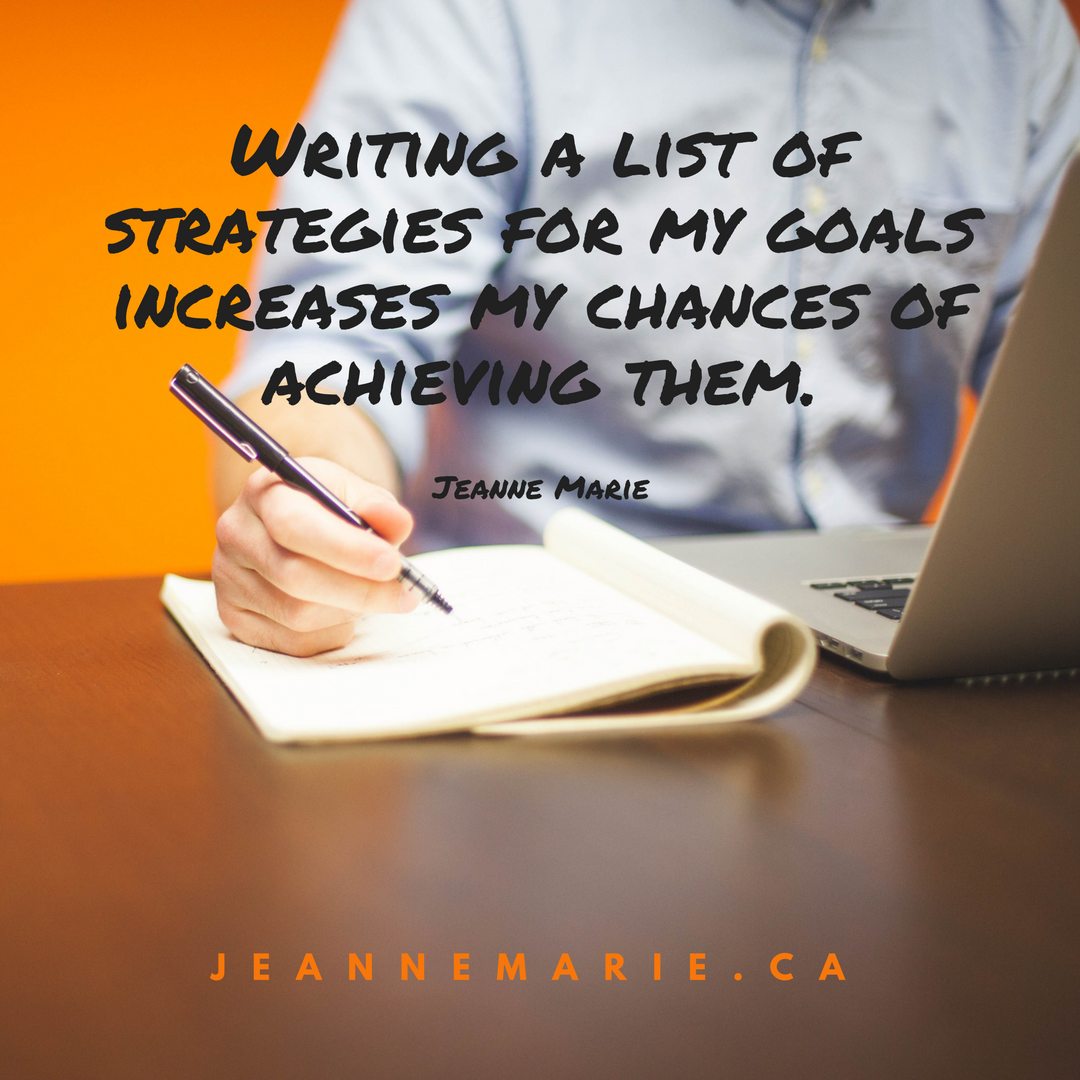 Writing a list of strategies