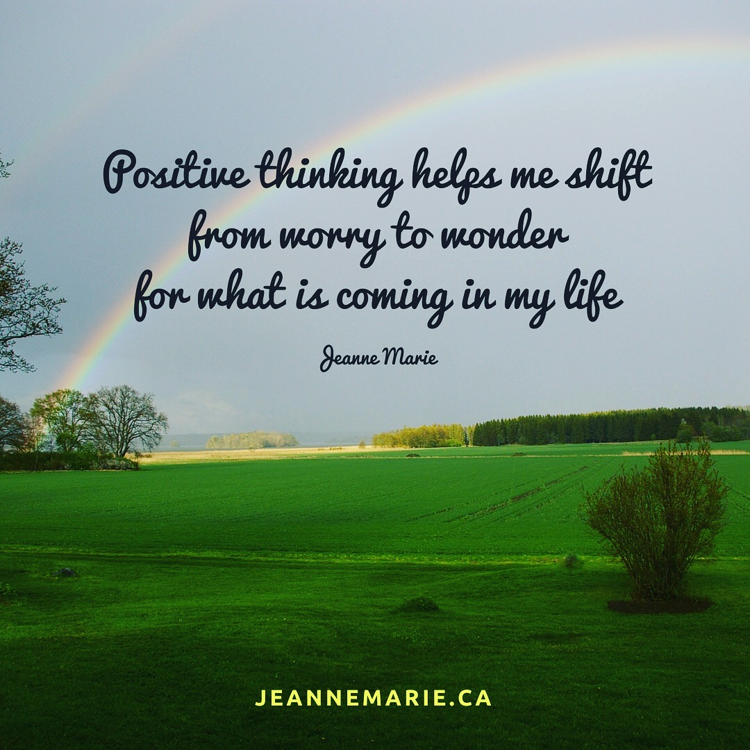 Positive thinking helps me shift