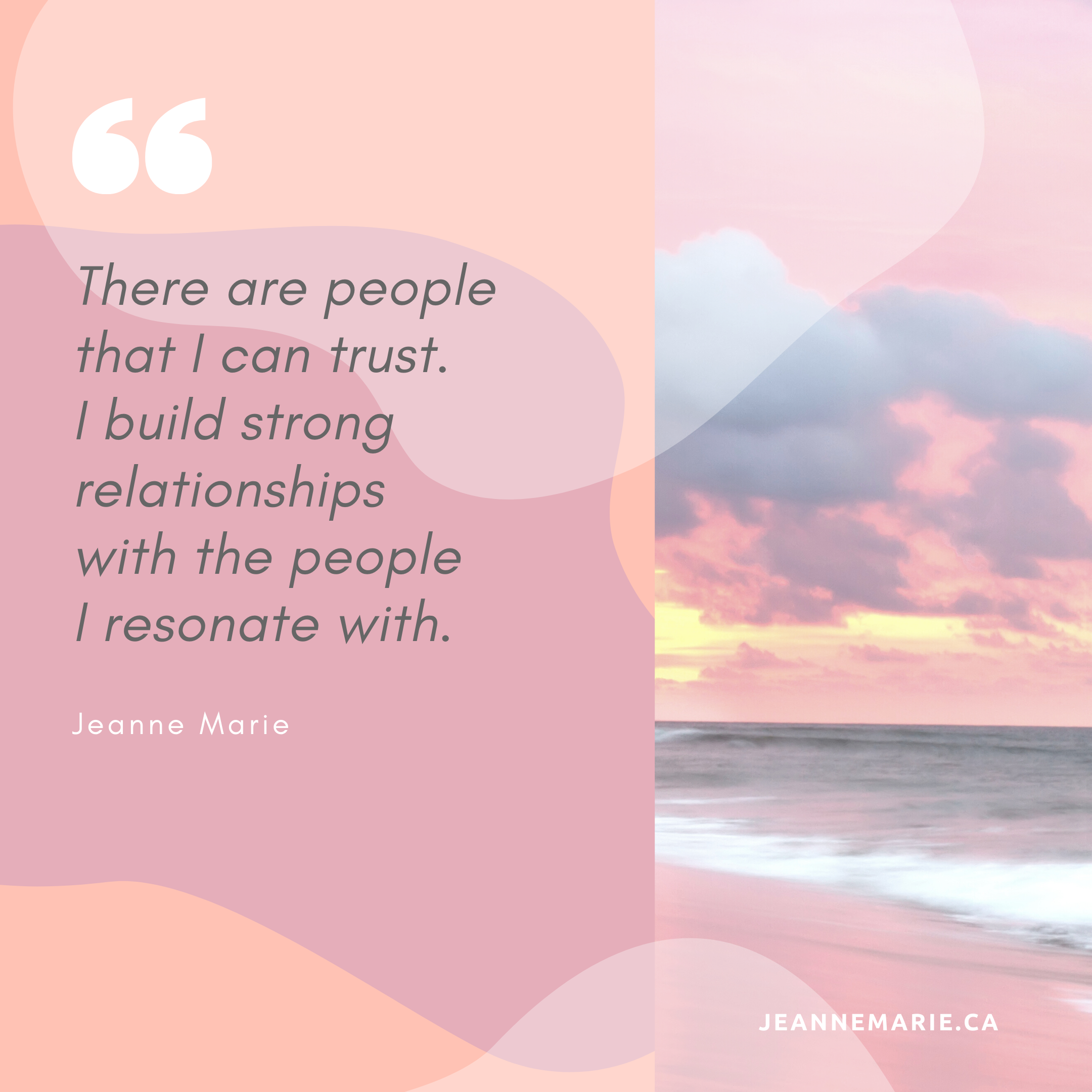 There are people that I can trust